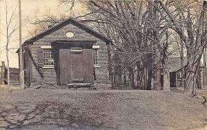 Montville ME School House in 1909 RPPC Postcard