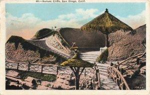 Postcard Sunset Cliffs San Diego California