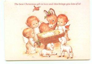 Christmas Baby Jesus baby Donkey Lamb Angels