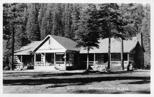RPPC Fire Mt. Lodge, Mill Creek, California ca 1950s Vintage Eastman's Postcard