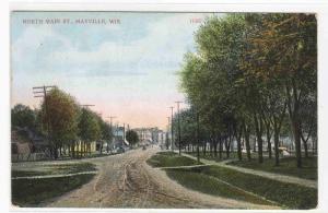 North Main Street Mayville Wisconsin 1914 postcard