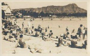 RP: WAKIKI Beach , Hawaii , 1910-20s