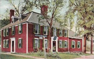 Massachusetts Concord Wright Tavern Headquarters Of British Officers, April 1...