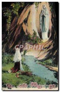 Old Postcard Lourdes L & # 39apparition
