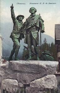 Monument H. B. De Saussure, Chamonix (Haute Savoie), France, 1900-1910s
