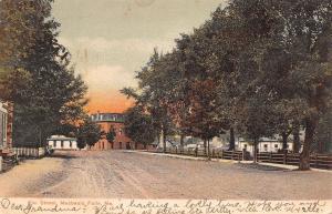 Mechanic Falls ME~Big Home or Hotel at End of Wide, Dirt Elm St~Postcard