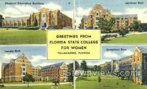 Florida State College Tallahassee FL Unused