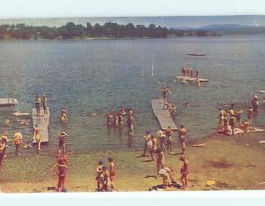 Pre-1980 BEACH SCENE South Hero Vermont VT G6048