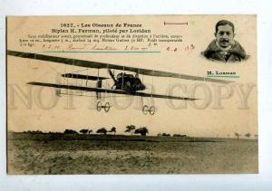 205492 FRANCE AVIATION Farman airplane pilot LORIDAN #1627