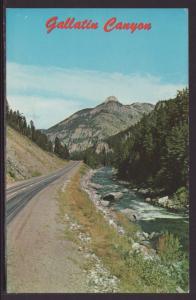 Gallatin Highway,Gallatin Canyon,Bozeman,MT Postcard BIN