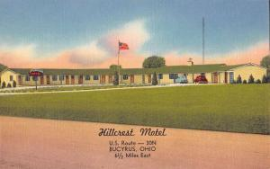 Bucyrus Ohio Hillcrest Motel Street View Antique Postcard K58702