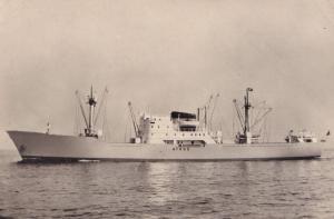 MS Athos Greek Swedish America Line DFDS Ship RPC Postcard