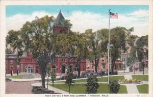 Massachusetts Taunton Post Office From The Common
