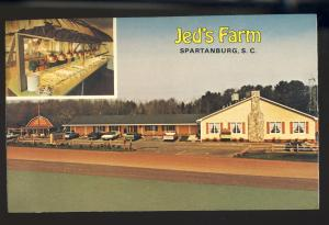 Spartanburg, South Carolina/SC Postcard, Jed's Farm Restaurant
