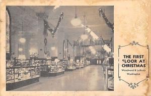 Washington DC~Woodward-Lathrop Department Store~Interior Christmas Deco~1920s?