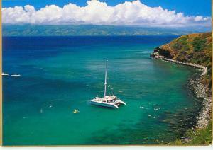 Honolulu Bay Hawaii Aerial Vies Moloka Sailing Fishing Swimmin  Postcard  # 7100