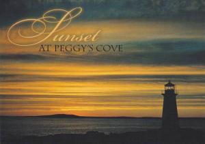 Lighthouse, Sunset At Peggy's Cove, Nova Scotia, Canada, 50-70´s
