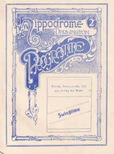 Darlington Hal Moss Circus Acrobats Lunatics Yorkshire Theatre Programme