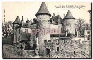 Old Postcard surroundings Thiers (Puy de Dome) Chateau de la Garde (Main Faç...