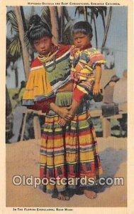 Hiptenea Osceola & Baby Compatchee Seminole Children, Florida, USA Unused