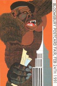 King Kong 1991 Exhibition Rare Advertising Postcard