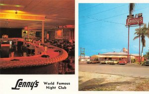 Ft. Lauderdale FL Lenny's World Famous Night Club Old Cars Postcard