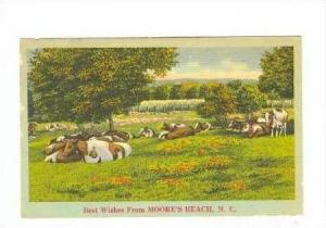 Best Wishes, MOORE´S BEACH, North Carolina, PU-1950