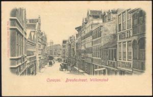 curacao, D.W.I., WILLEMSTAD, Breedestraat (1899)