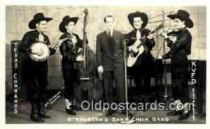 Stromber'g Baby Chick Gang Early Country Western Star Real Photo Postcard Pos...
