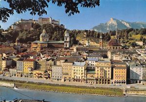 Festspielstadt Salzburg mit Unersberg Gesamtansicht River Fortress