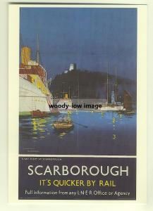 ad2721  -  LNER -  Scarborough  -  modern poster advert postcard