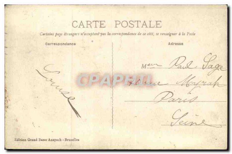 Old Postcard The Entree Brussels Bois de la Cambre