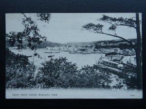 Scotland OBAN FROM ABOVE RAILWAY PIER c1908 Postcard Valentine