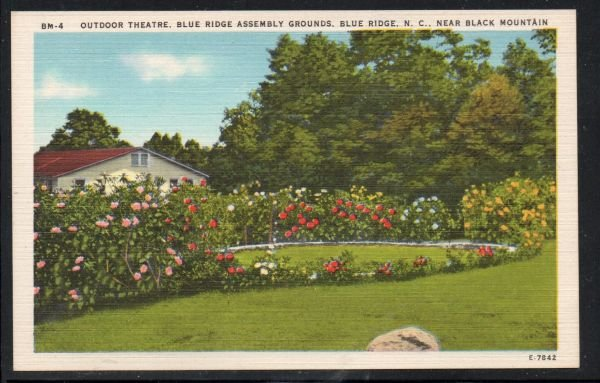 North Carolina colour Outdoor Theatre Blue Ridge  Black Mountain, N.C unused