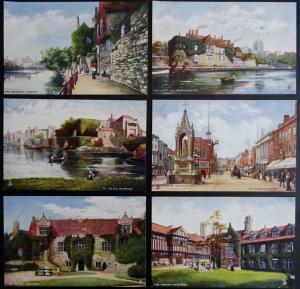 Kent Set of 6 MAIDSTONE c1905 Postcard by Raphael Tuck 7111