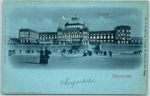 Vintage The Hague NETHERLANDS Postcard HOLD-TO-LIGHT Kurhaus - Scheveningen
