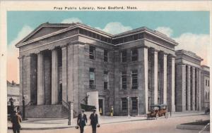 NEW BEDFORD, Massachusetts, 1900-1910's; Free Public Library, Classic Car