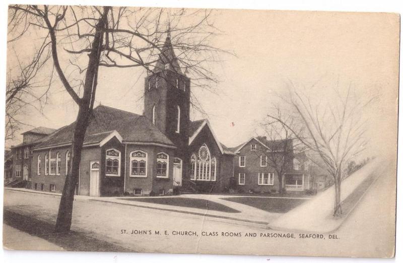 Seaford Delaware DE St Johns ME Methodist Church Class Rooms