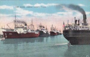Texas Corpus Christi Cargo Ships In The Port