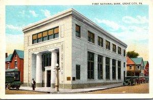 Pennsylvania Grove City First National Bank 1925 Curteich