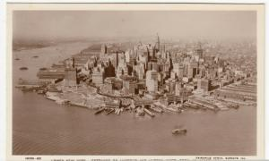 USA; Lower New York, Entrance To Harbour & Hudson River From Aeroplane RP PPC