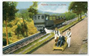 Railroad Incline Train Elevador do Monte Madeira Portugal 1910c postcard