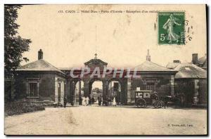 Postcard Old Hotel Dieu Caen Porte d & # & # 39entree receipt of sick 39un Re...
