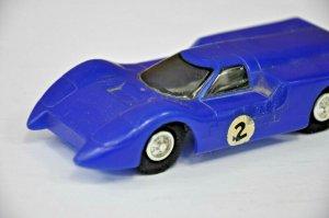 1968 Eldon Ford 1350-12 blue plastic toy car Vintage