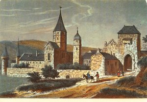 France Bourgogne du Temps Jadis L'Ancienne Abbaye de Cluny Postcard