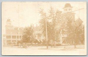 Nampa Idaho~Dewey Palace Hotel~Vintage Car~Razed 1963~Now Wells Fargo~1919 RPPC