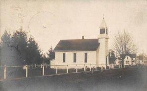 LPS84 Hubbard Oregon Methodist Church Postcard RPPC