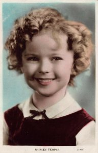 Shirley Temple Smile Colorized real photo postcard 7190F.