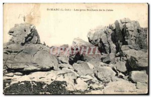 Old Postcard St. Mark The Big Rocks of the Jetee
