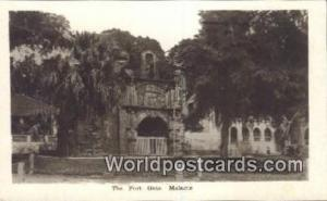 Malaysia, Malaya Malacca Fort Gate Real Photo